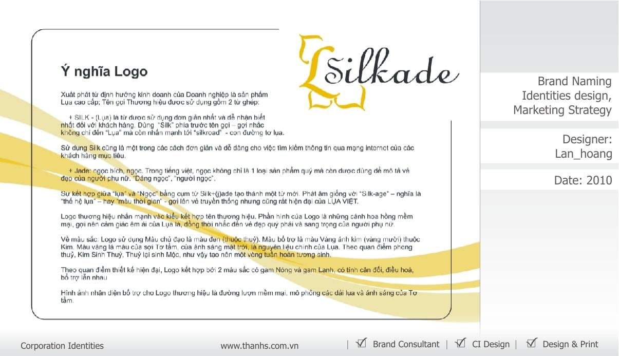 Đặt tên thương hiệu Silkage - Thanhs Brand