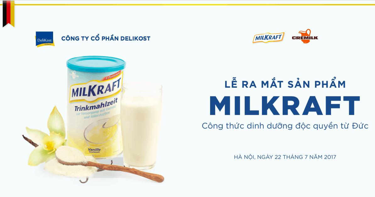 Giải pháp phòng Marketing thuê ngoài cho thương hiệu sữa Milkraft
