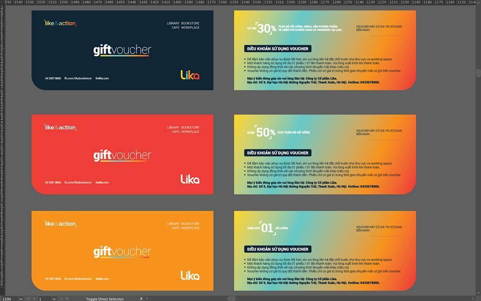 Thiết kế hệ thống nhận diện thương hiệu và Tư vấn chiến lược thương hiệu Chuỗi Thư viện Cafe Sách Lika
