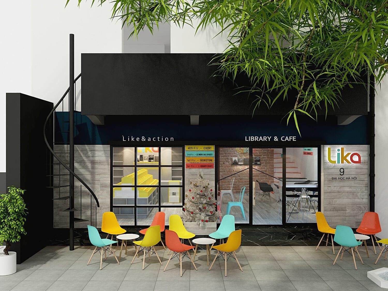 Tư vân thương hiệu, thiết kế nhận diện thương hiệu chuỗi Thư viện Cafe sáchThe Lika