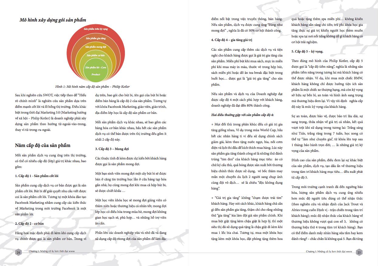 Mô hình 5 vòng sản phẩm của Philip Kotler