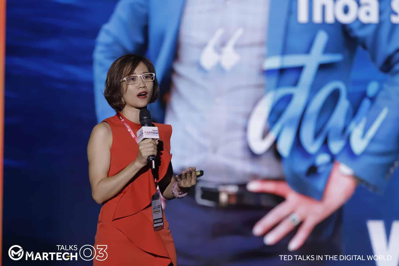 Chuyên gia Đặng Thanh Vân tại sự kiện MarTech Talks 03, ngày 24/08/2019