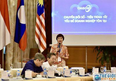 Bà Đặng Thanh Vân, TGĐ Thanhs chia sẻ tại Tại Diễn đàn về Kinh tế ASEAN, Doanh nghiệp tiêu biểu ASEAN tại Hà Nội vào ngày 25/6/2020