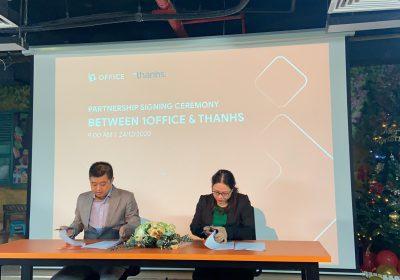 Lễ ký thỏa thuận hợp tác chiến lược giữa Thanhs và 1Office